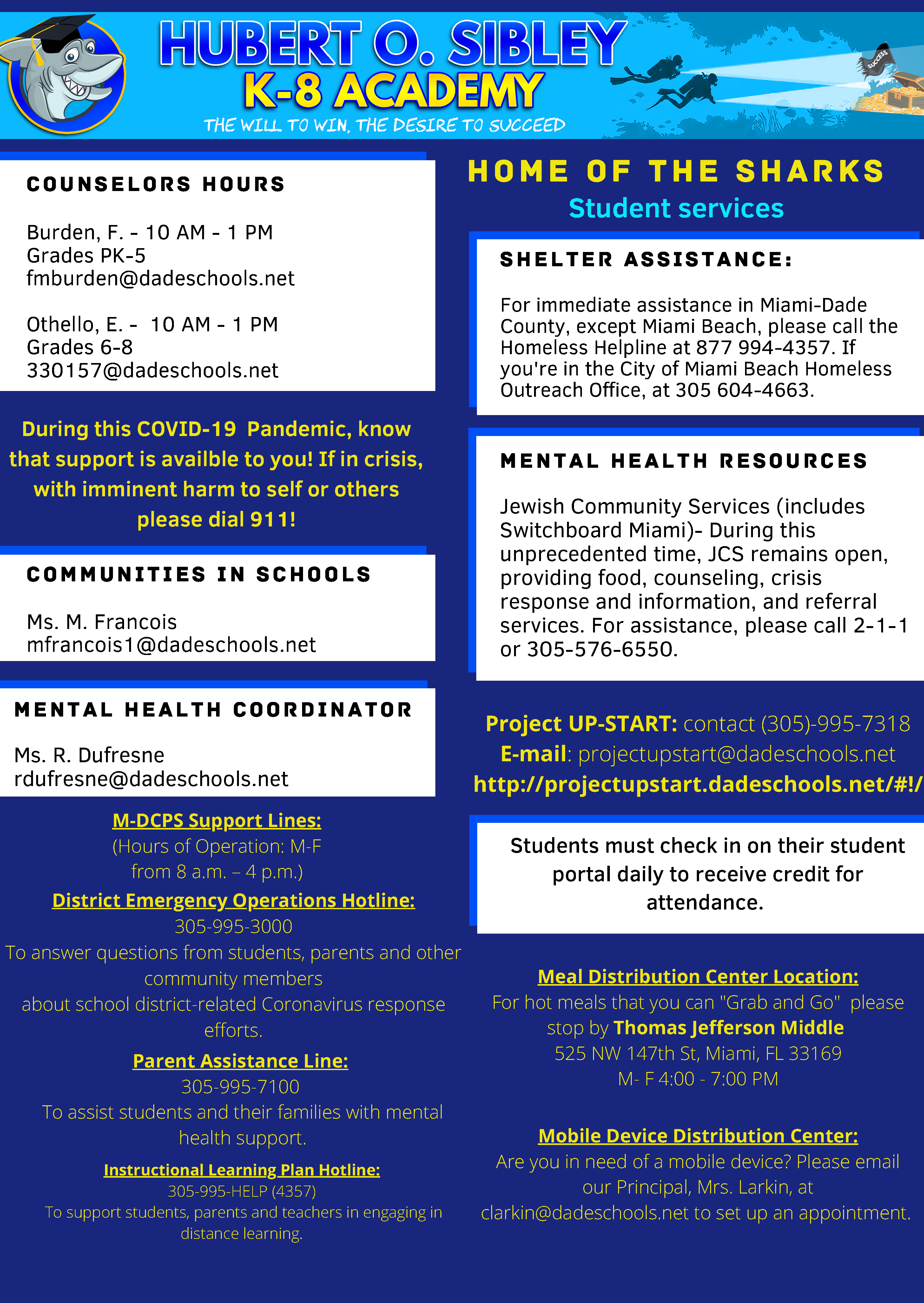 Students Services Flyer